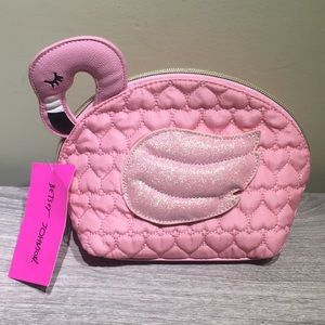 Brand New Betsy Johnson Flamingo Cosmetic Case
